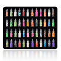 HOT 48 Botellas/set Mini Giltter Lentejuelas Cuentas Para Gel ULTRAVIOLETA de Acrílico del Polvo Set Hot Lentejuelas de Colores Set de Uñas arte de La Decoración