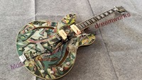 China Top quality firehawk OEM shop Electric Guitar Electric hollow jazz guitar Oil painting Watercolor painting Custom