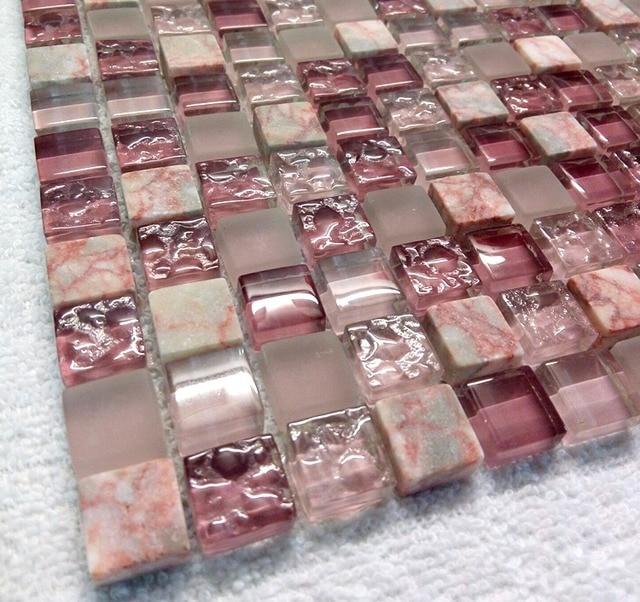 Agate Rouge Marbre Lavande Pourpre Rose Cristal Mosaque De Verre