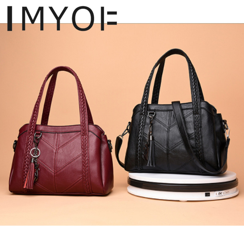 Top-Handle Bags Women Tassel Tote Luxury Women Shoulder Bags 1