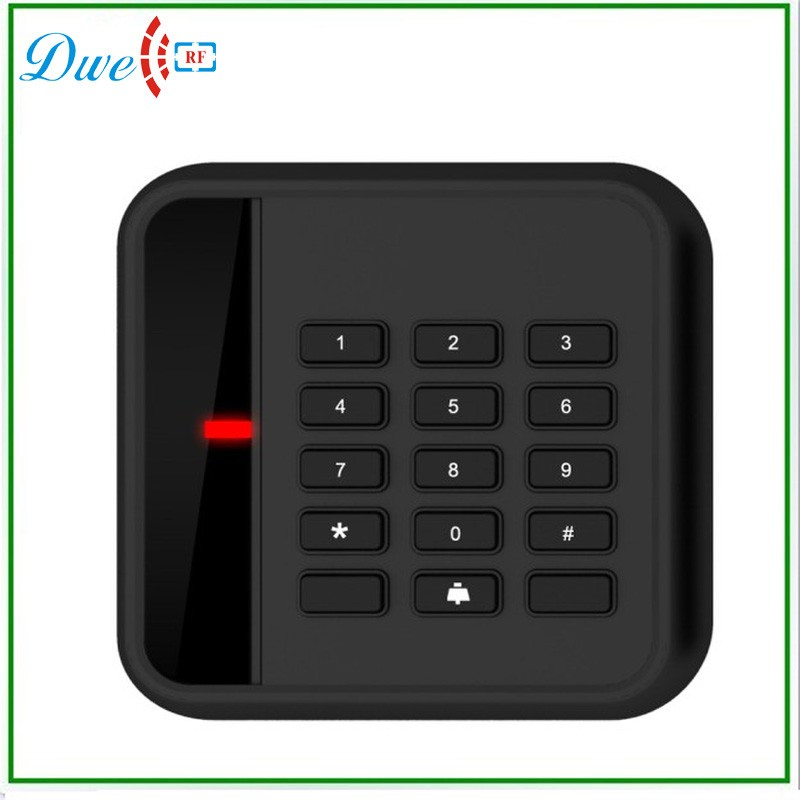 DWE CC RF RFID EM ID Keypad Card Reader 125KHz Wiegand 34 bit For Access Control Board proxi rfid card reader without keypad wg26 access control rfid reader rf em door access card reader