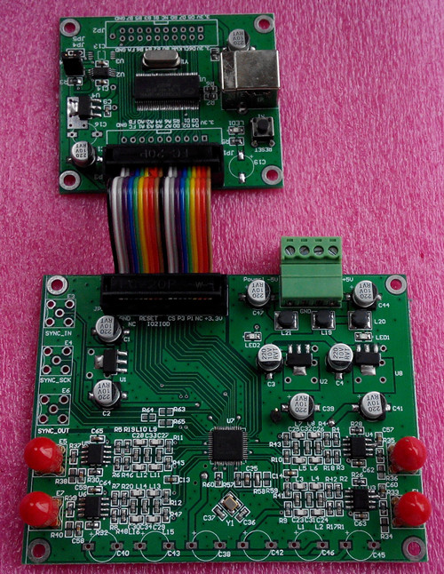AD9958 AD9959 Высокая Частота DDS модуль генератор сигналов поддерживает официальный программного обеспечения многоканальный V2