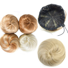 HiDoLA Donut Chignon Bun Clip In Hair Extensions Women Hairstyles Heat Resistant Synthetic Hairpieces headwear