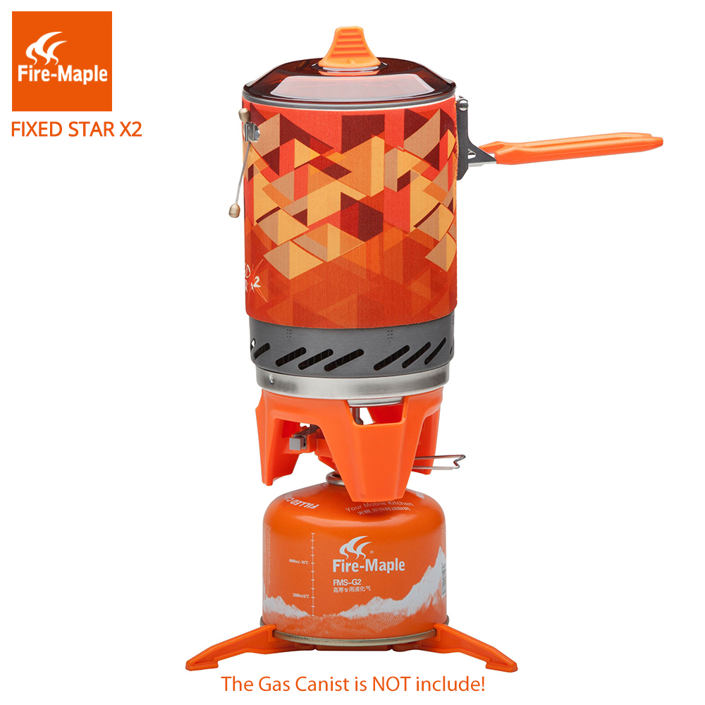 Feuer Maple Fest Star 2 Persönliche Kochen System Outdoor Wandern Camping Ausrüstung Ofen Tragbare Propan Gasherd Brenner FMS-X2