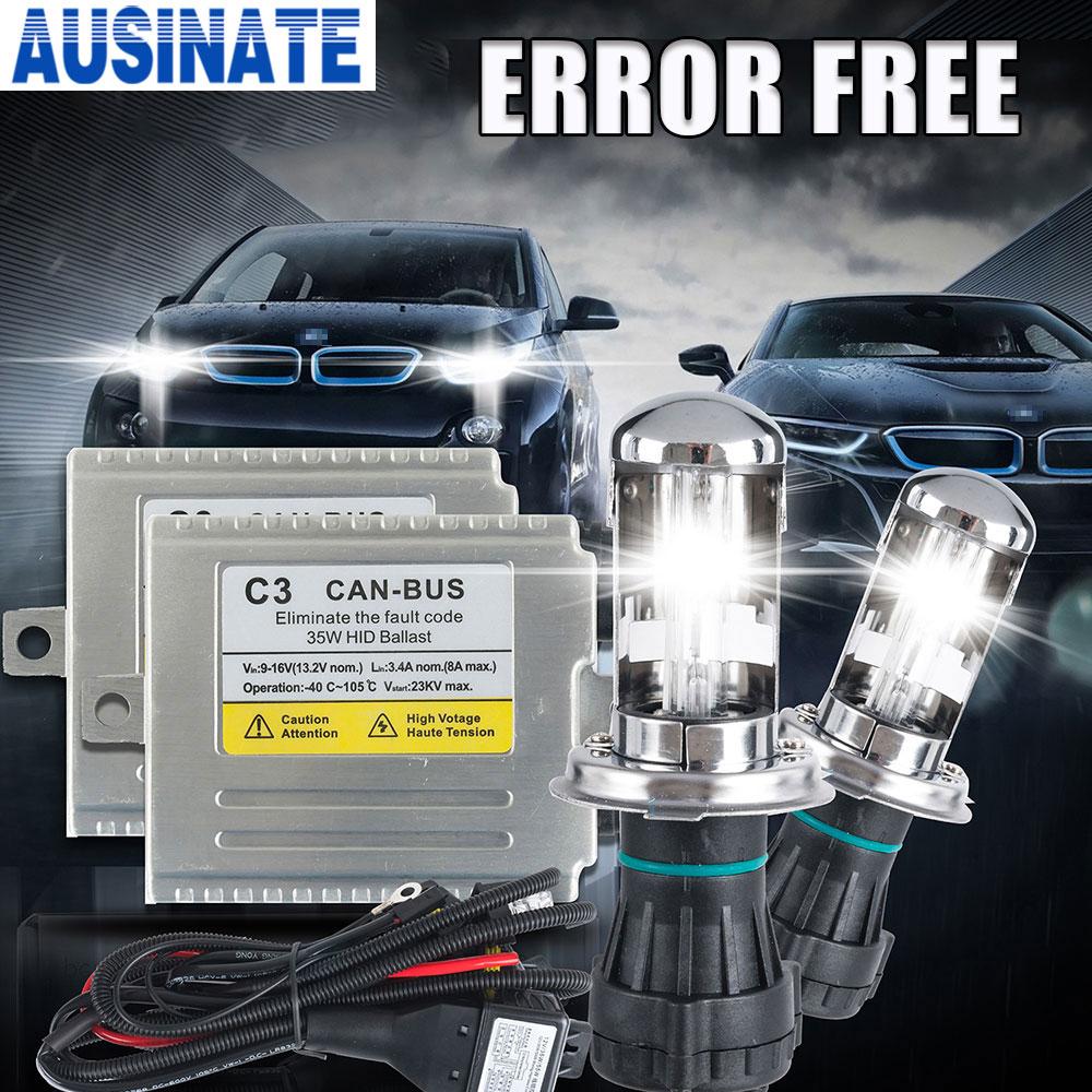 12V C3 35W canbus ballast xenon lamp kit 35W h4 h13 9004 9007 35W hid hi lo xenon light 4300k 6000k 5000K,Canbus H4 hi lo xenon