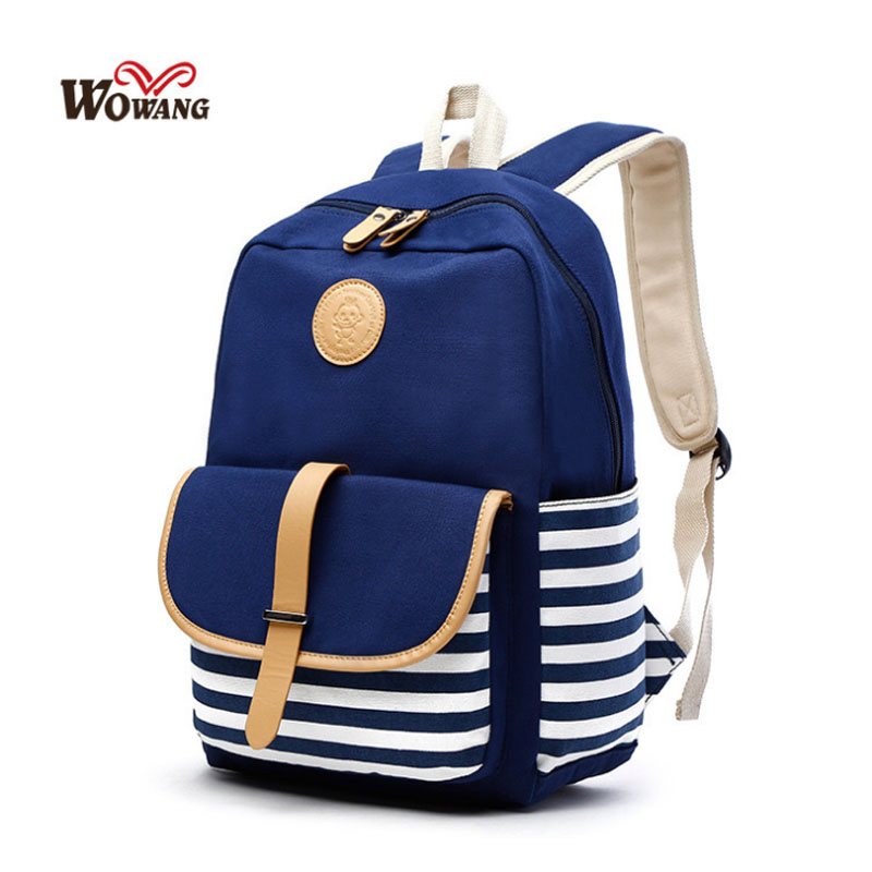 Casual Student Canvas Women Backpack College Wind Girl Backpack Student School Bag Fashion Women Travel Backpack Female
