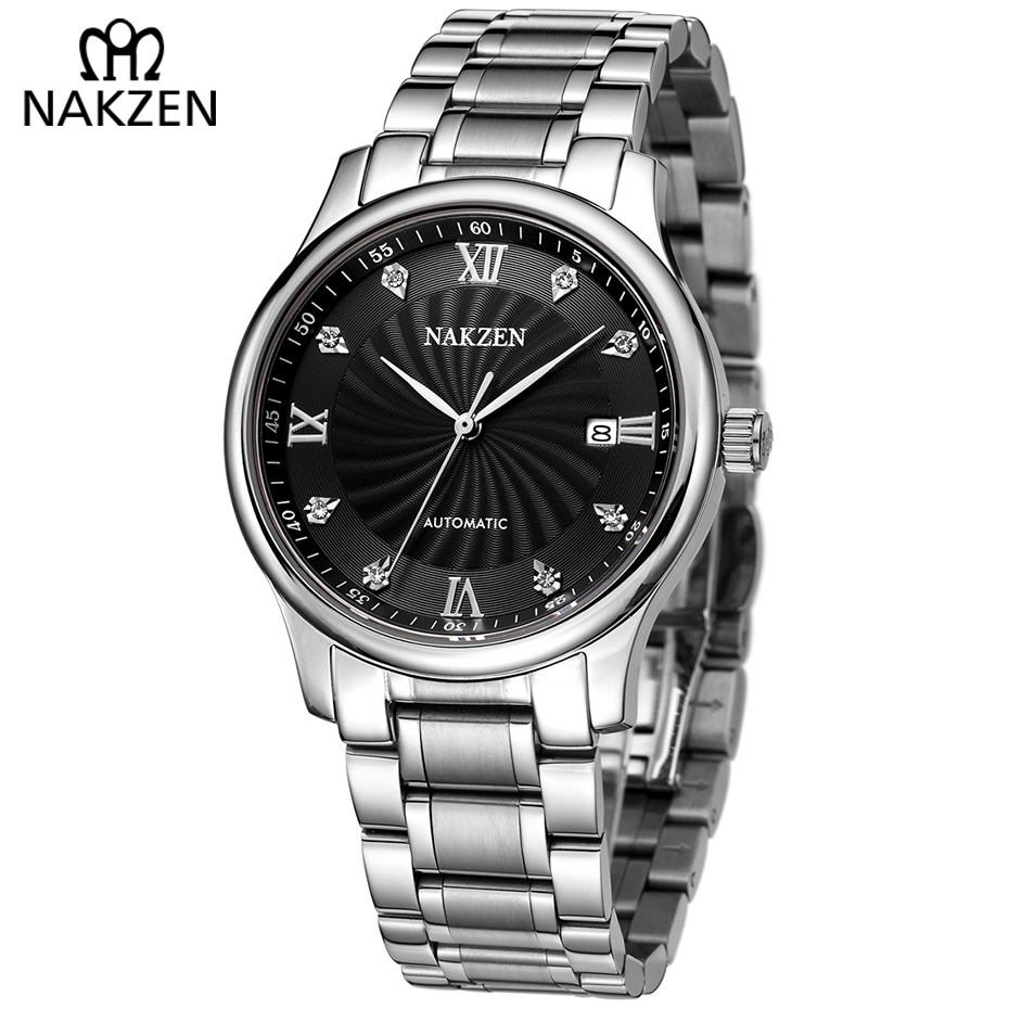 Men Classic Automatic Watch Mechanical Watches MIYOTA 8215 Male Machinery Business Luxury Wrist Clock NAKZEN Erkek Kol SaatiMen Classic Automatic Watch Mechanical Watches MIYOTA 8215 Male Machinery Business Luxury Wrist Clock NAKZEN Erkek Kol Saati