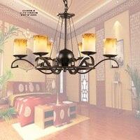Múltiplas lâmpada Lustre restaurante rústico lâmpada de ferro forjado luzes do quarto de luz da luz da vela Mediterrâneo forjado lâmpadas ZX57|rustic bedroom|lamp wrought iron|restaurant lamps -