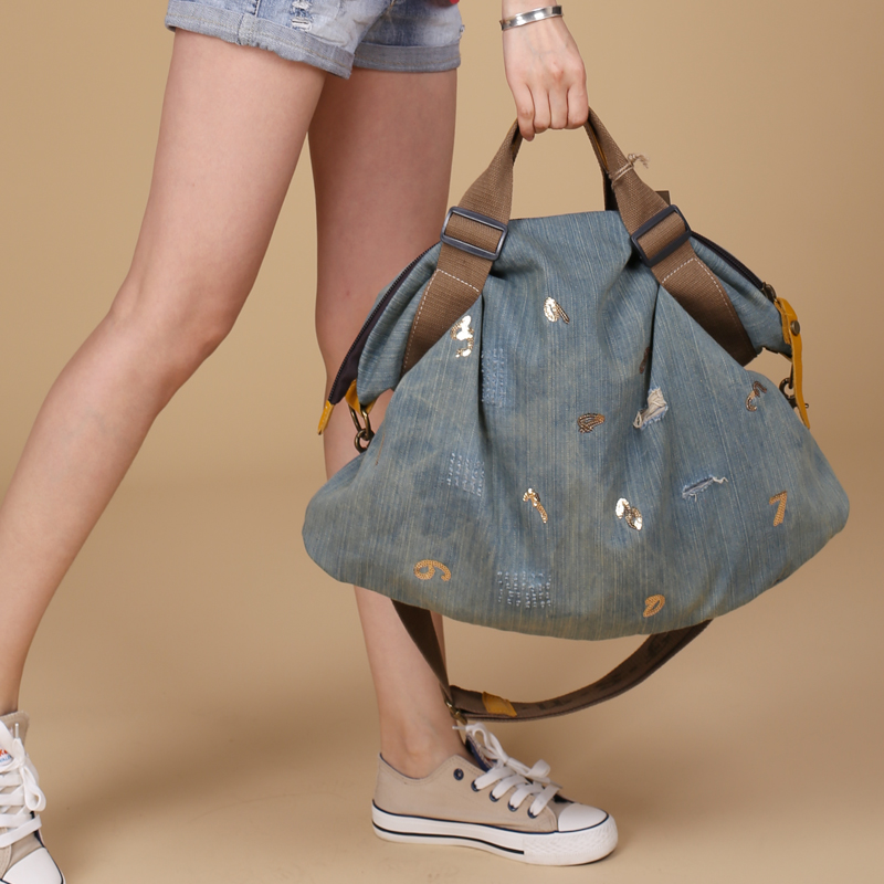 women Denim bag female Crossbody casual shoulder bag High Quality women messenger bag big