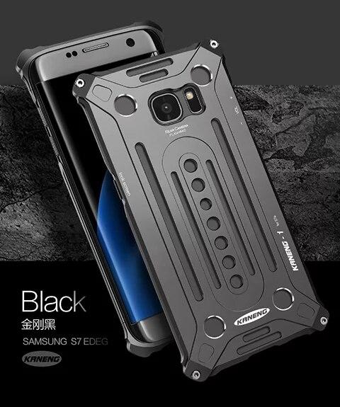 bilder für Für Samsung Galaxy S7 Fall Kaneng Luxury Aluminum Anmaßend RÜSTUNG Abdeckung Luxus Box Mode Kühlen Heiße Verkauf TOP-QUALITÄT