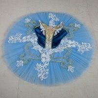Professional Ballet Tutus Blue Classical Ballet Tutu Dress For Girls Ballerina Ballet Skirt Nutcracker Ballet Costumes