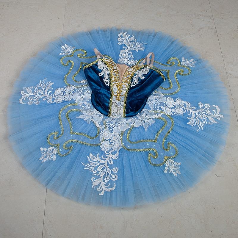 Professional ballet tutus blue, classical ballet tutu dress for girls ,ballerina ballet skirt nutcracker ballet costumes tutu
