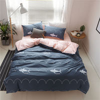 KELUO Luxury Bedding Set Duvet Cover Bedclothes Print Bedding Sets Shark American Style 3 4PCS AU