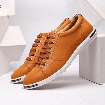 Męskie buty 2018 hot moda mężczyźni buty w stylu casual tenis masculino adul pu skórzane wygodne męskie płaskie buty męskie trampki