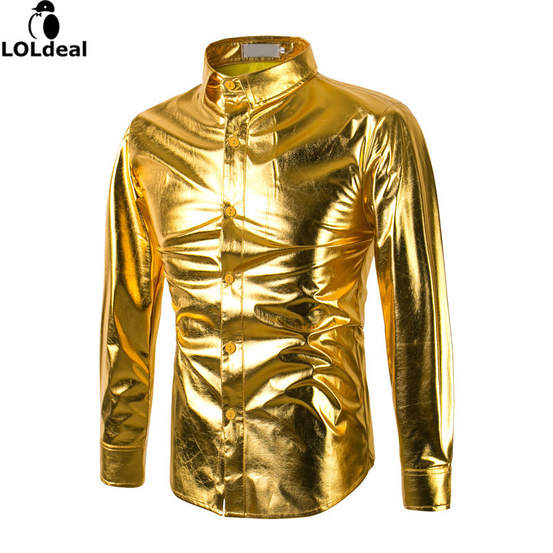 Compare Prices on Shiny Gold Shirt- Online Shopping/Buy Low Price ...