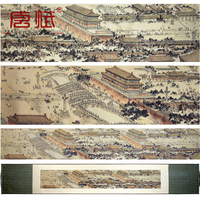 High Quality Silk Brocade Scroll Painting Chinese Craft The Imperial Palace Panorama Paint Business Gift Office
