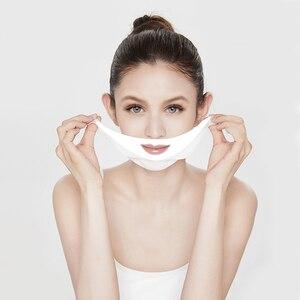 Image 3 - 4D V Gezichtsmasker Chin Cheek Lift Dunne Face Lifting Masker Facial Afslanken Oor Opknoping Hydrogel Hals Slanker Huid care Tools Dubbele