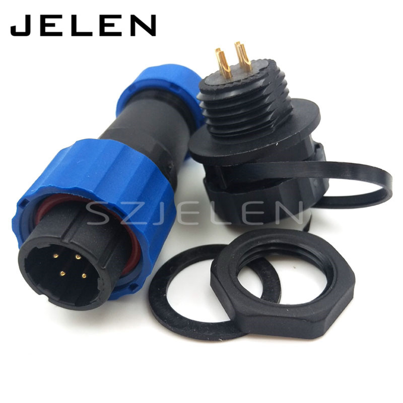 SD16 , 4pin Outdoor waterproof connector connector plugs and sockets, electric cars motorcycle power panel mount connector 4-pin sd13 4 pin cable connectors waterproof 250v sockets led cabinet power connector 4pin waterproof panel mount connector ip68