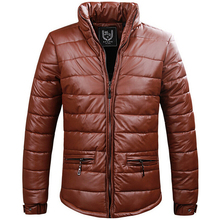 New 2016 PU Leather Winter Jacket Men Thick Warm Down Parkas Jackets For Men Outerwear Winter Coat Casual Cotton Overcoat Jacket