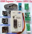 RT809F programador 7 Adaptadores + IC clamp clip + VGA LCD programador ICSP bordo 24 25 93 serise IC Original Del Envío Libre