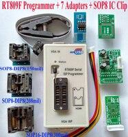 Free Shipping Original RT809F Programmer 7 Adapters IC Clip Clamp VGA LCD Programmer ICSP Board 24