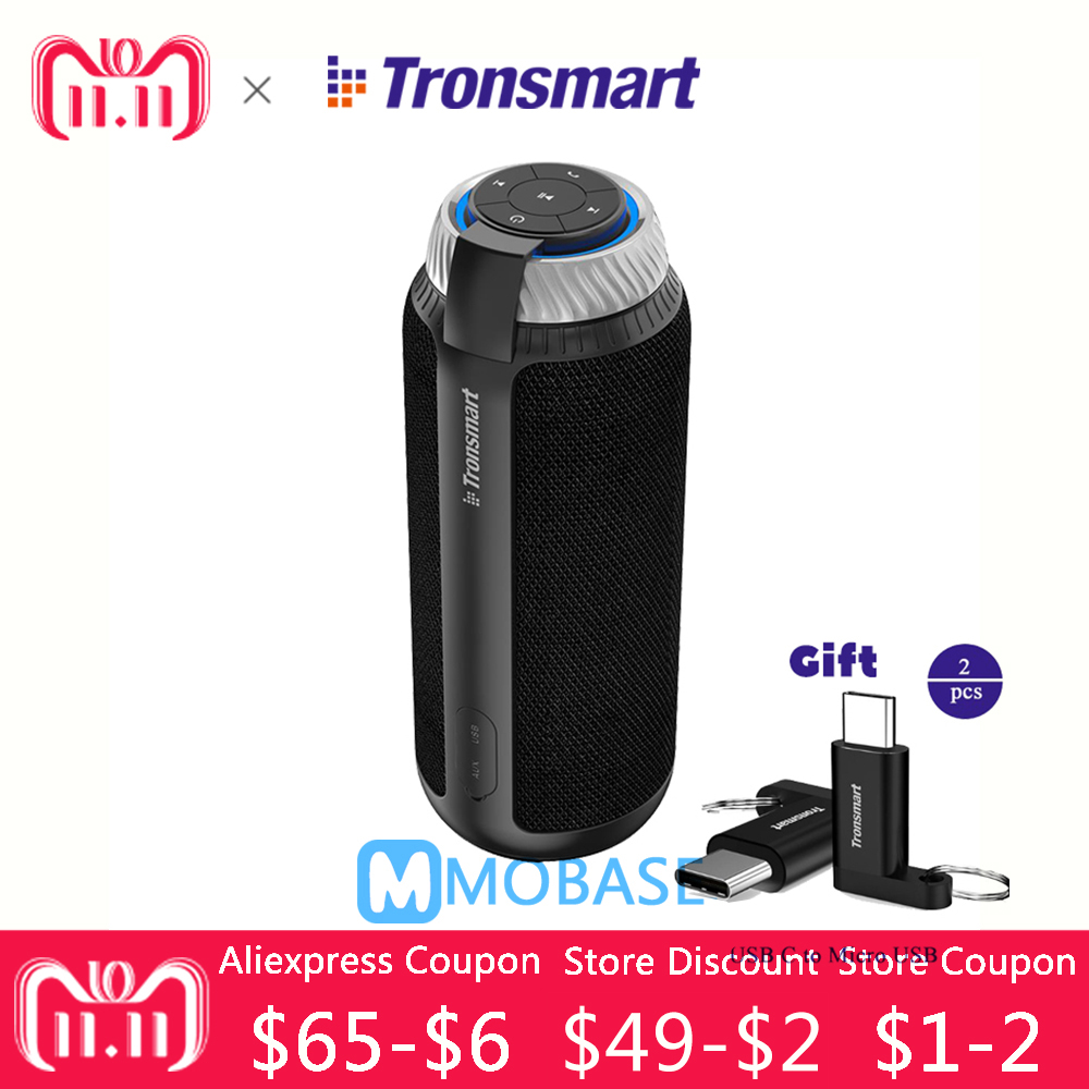 Tronsmart T6 Tragbare wireless Bluetooth Lautsprecher Mini Lautsprecher USB Geschenk l Spalte subwoofer Soundbar Audio Empfänger AUX big power