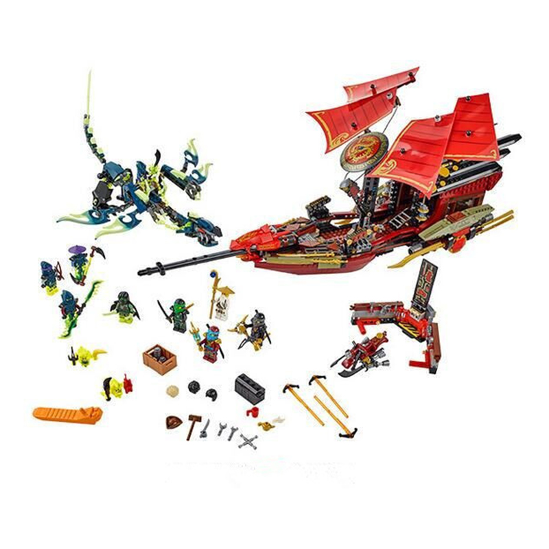 ФОТО 10402  Building Blocks Final Fight of Destiny's Bounty Blocks Kids Bricks Toys for Children 06020 Compatible with LEPIN
