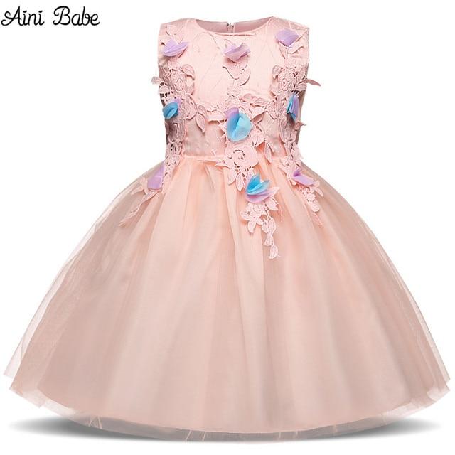 Aini Bayi Anak Gadis Bunga Pernikahan Bridal Gaun Bayi Gadis Ulang Tahun  Gaun Pesta Anak Mewah 999924555a