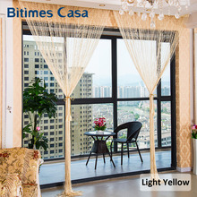 Hign Density Silver Shinny Tinsel Tassel String Curtain 300*300CM Vogue Solid Color Line Curtain With Sequins Room Divider