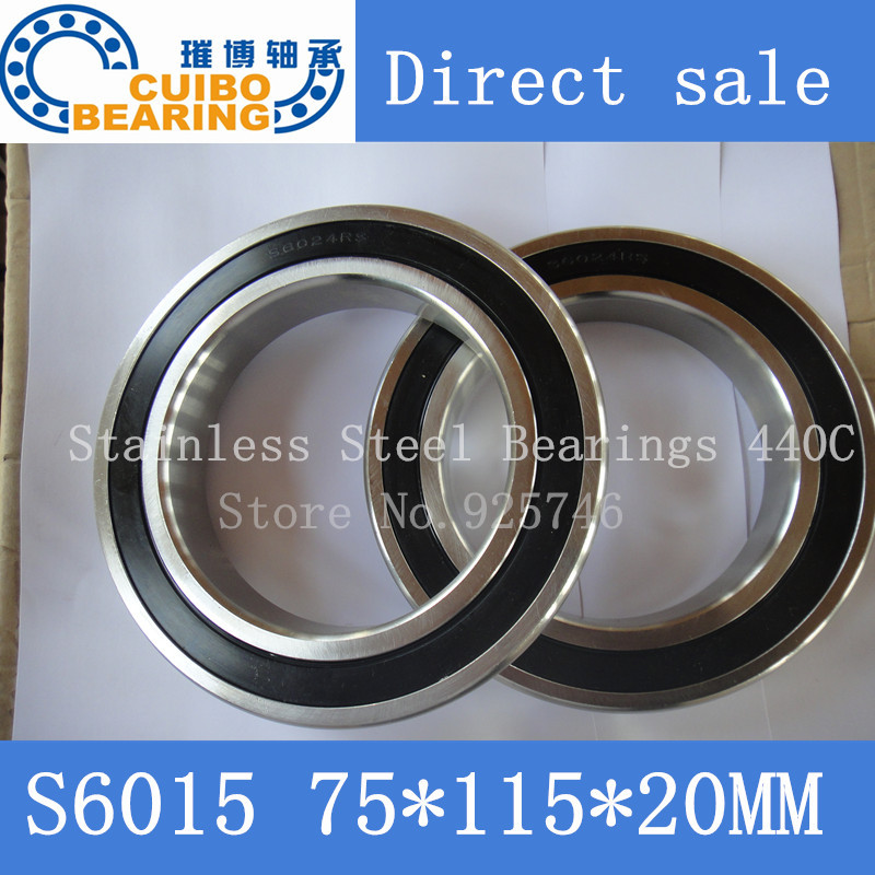 Free Shipping 1PCS S6015 2RS Stainless Steel Bearing 75x115.x20 Miniature 6015 RS Ball Bearings S6015 светильник 704634 monile osgona 1045034