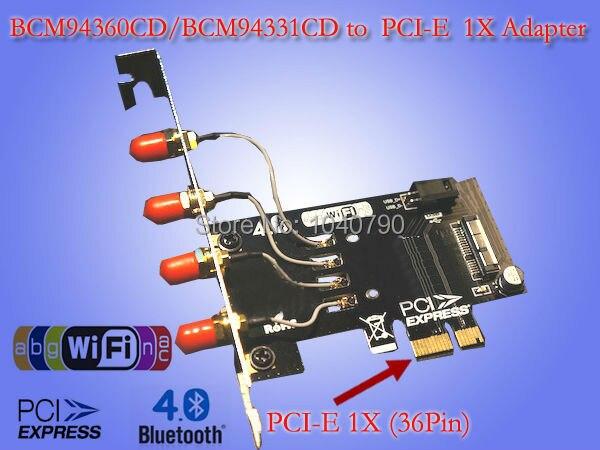 Placa de rede sem fio pode converter PCI - e 1X Mini PCI-E para BCM94360CD / BCM94331CD wi fi