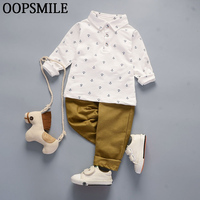Summer Baby Boys Clothing Sets Fashion Baby Boy Suits Gentleman Shirt Casual Pants 2pcs Baby Boys