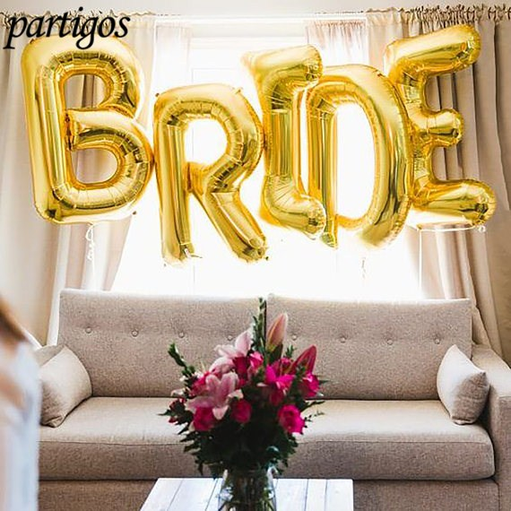 "5pcs/lot 40 Inch Foil Letter Balloons ""BRIDE"" Wedding & Engagement Parties Decoration Valentine's Day  Anniversary Gifts Globos"