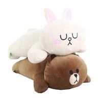 Лежат положения мягкие коричневый Цвет медведь белый кролик Подушки плюшевые Пледы Подушки детские на диван подарок на день рождения для п...