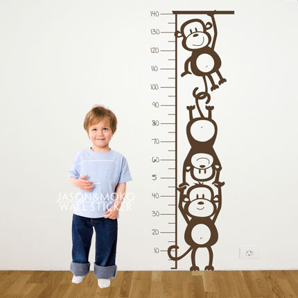 Aliexpress Com Buy Monkey Height Chart Wall Decal