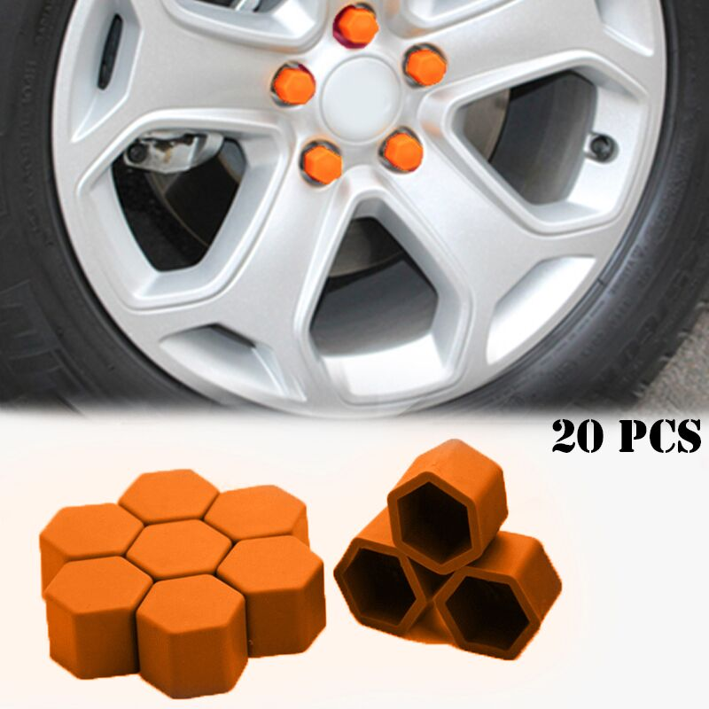 20pcs Silica Gel Wheel Nuts Covers Protective Car Accessories Caps Hub Screw Protector For Chevrolet Aveo Cruze Captiva Sail