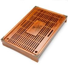 Фотография Chinese Tea Tray Wood Drainage Water Storage Drawer Tea Table  Kung Fu Tea set 6 Color Tea Set Accessory