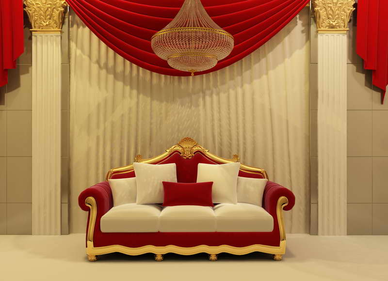 5x7ft Indoor Red Curtain Sofa Couch Stage Frame Custom Photo Studio