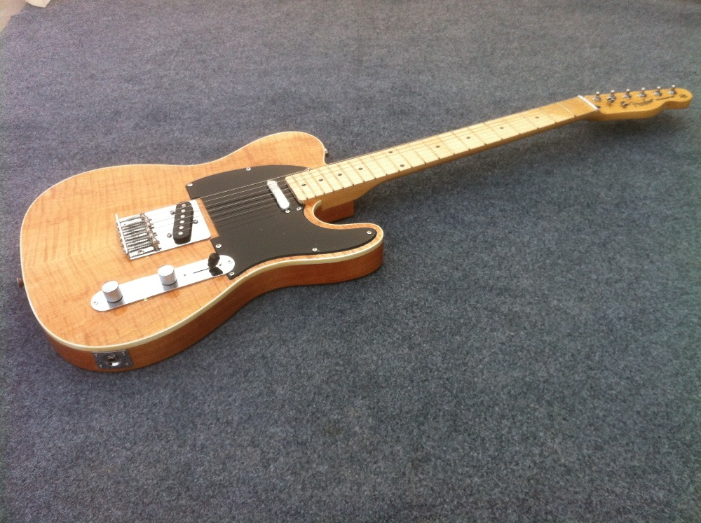 unbleached flamed maple top Quality Tele Electric guitar Guitarra All color Available free shipping blue flamed maple top private stock prs electric guitar