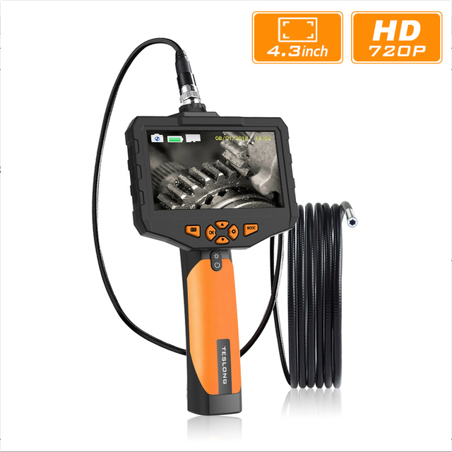 """4.3"""" LCD Digital HD Snake Camera 7.6MM Drain Pipe Inspection Endoscope Borescope Wire Probe Waterproof Camera 1M/3M/5M Cable"""