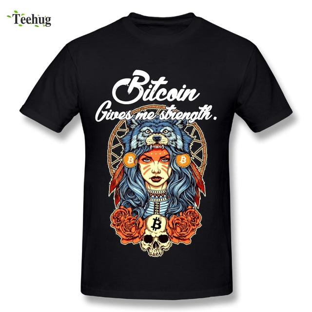Novelty Men's Modern Bitcoin t shirt Princess Mononoke T Shirt 100% Cotton Anime Funny Design T-Shirt