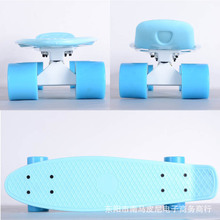 Free Shipping Children's Scooter Mini Cruiser Style Skateboard Complete Deck Plastic Mini Skate Long Board skateboarding board