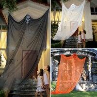 Hot Sale 3 Color Halloween Prop Electric Voice Hanging Skull Skeleton Ghost Hanging Halloween Escape Horror