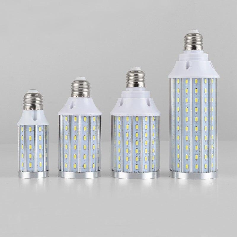 6Pcs No Flicker 15W 20W 25W 30W 35W 40W 45W E27 E26 B22 LED lamp Corn light 5730SMD 85V-265V Aluminum Cooling High Power Bulb