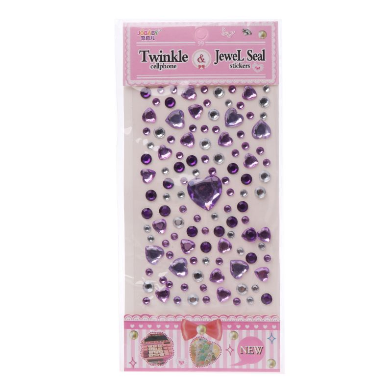 HBB 1 шт. сердце Форма стикер в виде бриллианта, кристалла DIY Наклейка Мобильный Art самоклеющиеся Скрапбукинг Стикеры «s», детская игрушка - Цвет: G