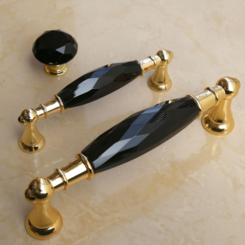 96mm 128mm black crystal kitchen cabinet wine  cabinet door handles golden drawer tv table pulls knobs 5 modern fashion deluxe css clear crystal glass cabinet drawer door knobs handles 30mm