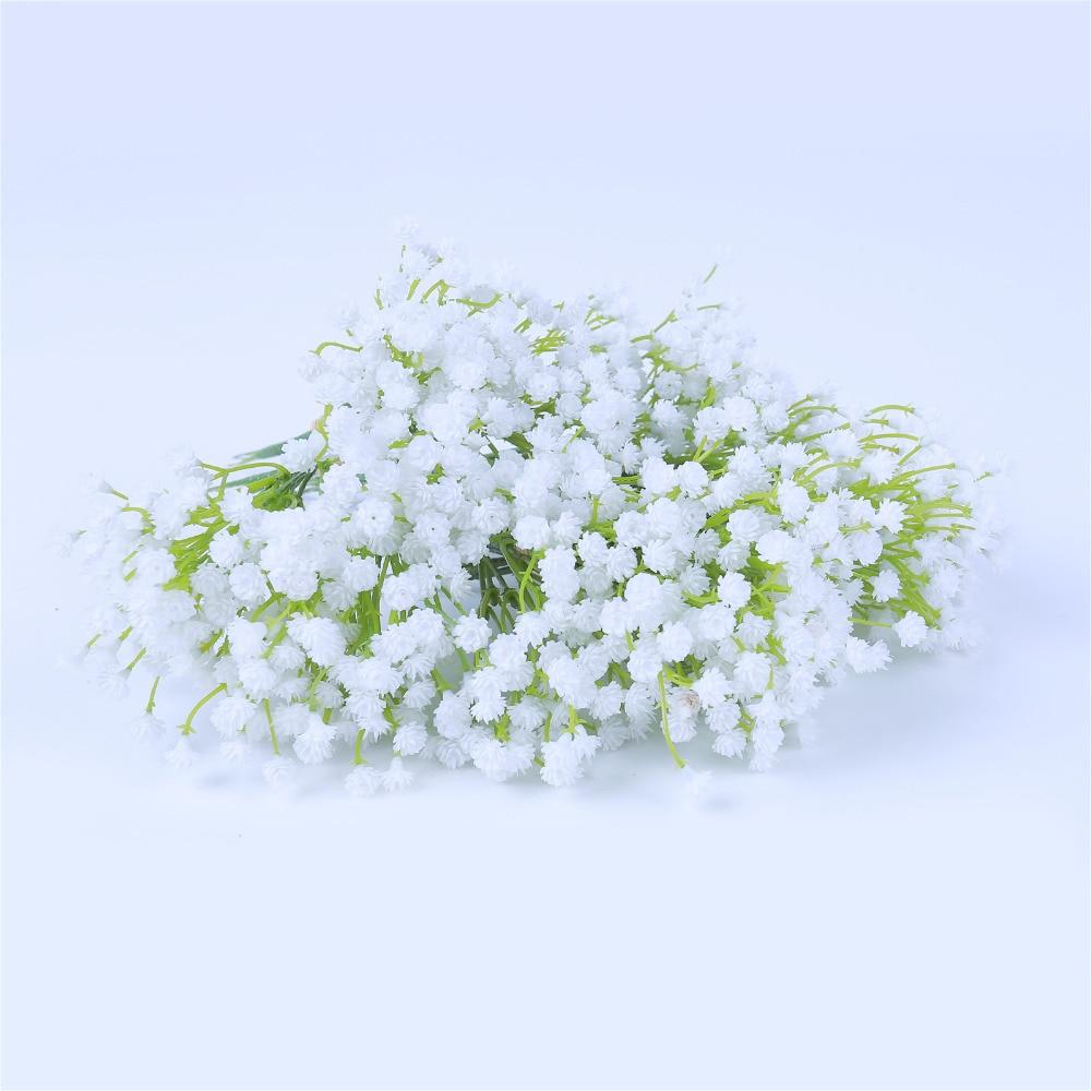 Aliexpress Buy 12 Bouquets Pu Artificial Flowers White Wedding