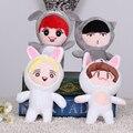 Nuevo Llega El 20 cm Lindo de la Historieta de Corea Exo Chico Juguete de Peluche chica Fans Regalo Encantador Suave de la Muñeca de Peluche de Regalo de Navidad Kid colección