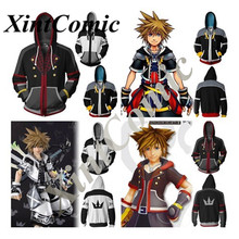 Ganme Anime Kingdom Hearts Sora Zippered Cosplay Costumes Men/Women Casual