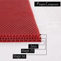 2 Pcs Lot ZEUS MAGIC 23 66 Table Tennis Rubber Pips Long Topsheet OX Without Sponge